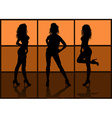 Silhouette of Models Posing vector image vector image