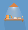 Simple book shelf vector image vector image
