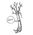 Sleeping Tree Cartoon vector image vector image