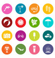 summer rest icons many colors set vector image vector image