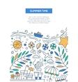 Summer Time - line design brochure poster template vector image vector image