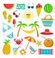 summer travel or holiday vacation bright vector image vector image