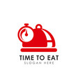 time to eat icon design eat time logo design vector image vector image