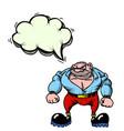 tough man 100 vector image vector image