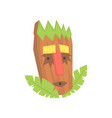 tropical tiki mask tribal totem cartoon vector image vector image