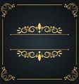 vintage wedding ornament frame invitation card vector image vector image
