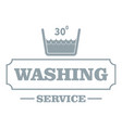 washing soap logo simple gray style vector image vector image