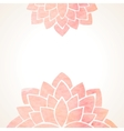 Watercolor pink floral background vector image vector image