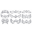 wings hand drawn lettering doodle elegant angel vector image vector image