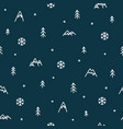 winter mountain seamless pattern christmas snow vector image vector image