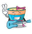 with guitar cartoon timpani in the studio music vector image