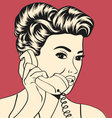 woman chatting on the phone vector image vector image
