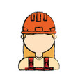 woman construction worker vector image