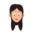 young woman face vector image vector image