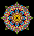 Color round ornament vector image