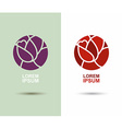 logo Flower abstract icon design template Flourish vector image