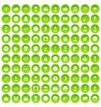 100 emotion icons set green circle vector image vector image