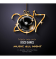 2017 happy new year disco party background vector image