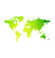 abstract green geometric world map vector image