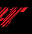 abstract red black cyber circuit with blank vector image vector image