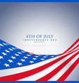 american wave flag background vector image vector image