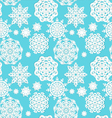 Applique snowflakes Christmas seamless background vector image vector image