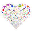 balloon fireworks heart vector image vector image