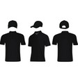 black polo t shirt and baseball cap vector image vector image