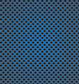 blue circle perforated carbon speaker grill vector image vector image