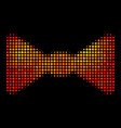 bright dotted bow tie icon vector image vector image