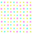Bright squares seamless pattern vector image