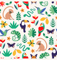 bright tropical design seamless surface pattern vector image