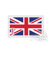britain flag old postage stamp vector image vector image