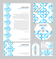 Business layout template vector image vector image
