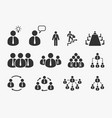 businessman icons set office business vector image