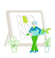 businesswomen working at eco-friendly green office vector image vector image