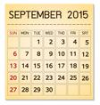 calendar 2015 09 September vector image vector image