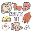 carnivore menu organic healthy diet vector image vector image
