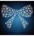 Christmas bow snowflake design background vector image vector image
