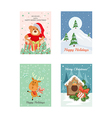 Christmas Cards 9 vector image