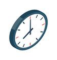 clock isometric icon vector image vector image