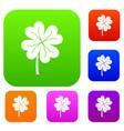 clover leaf set color collection vector image vector image
