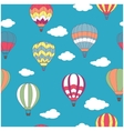 Colored hot air balloons seamless pattern vector image vector image