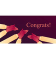 congratulats applaud to cheer up with applause vector image