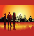 corporate or business team with urban background vector image