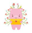 cute piggy cartoon vector image