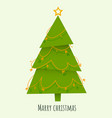 decorated triangular christmas tree with star vector image vector image