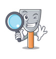 detective character putty knife isolated vector image