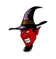 Devil And Witch Hat vector image vector image