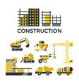 digital construction building tracks vector image
